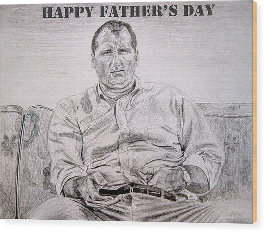Al Bundy - Happy Fathers Day Wood Print