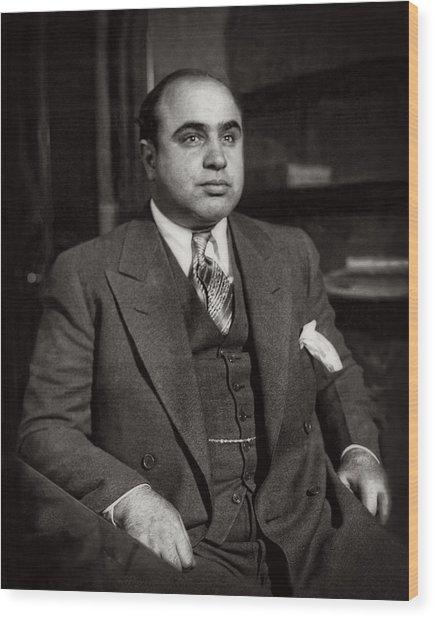 Al Capone - Scarface Wood Print