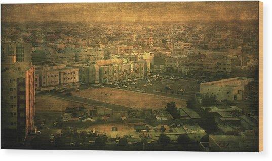 Al-khobar On Texture Wood Print