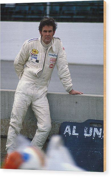 Al Unser At Indy Wood Print