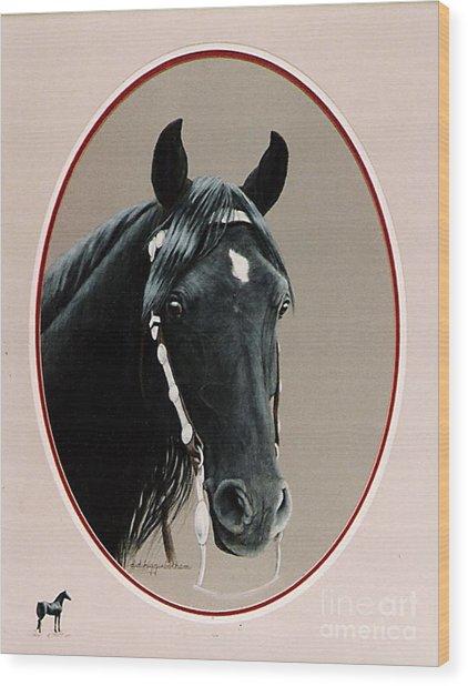 Al Zirr Portrait Wood Print by DiDi Higginbotham