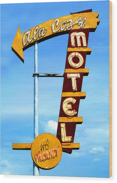 Ala Cozy Motel Wood Print