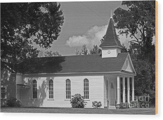 Alabama Church Wood Print by Kimberly Saulsberry