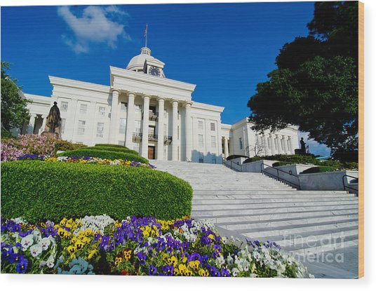 Alabama State Capitol Building Wood Print