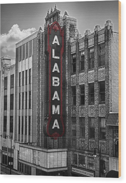 Alabama Theater Wood Print
