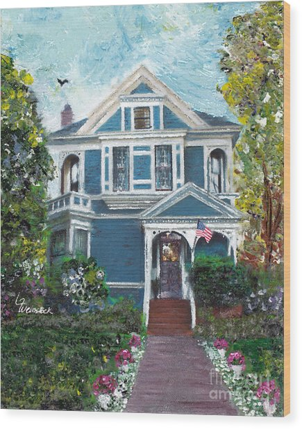 Alameda 1887 - Queen Anne Wood Print