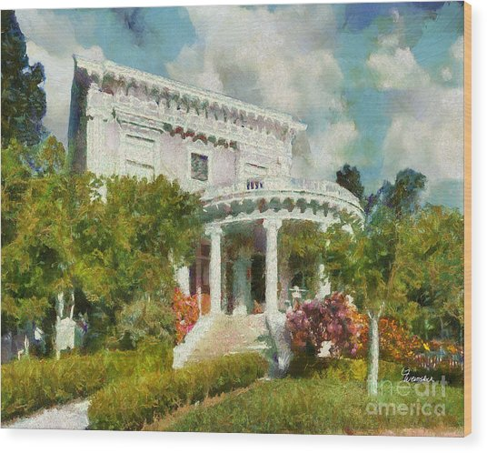 Alameda 1896-97 Colonial Revival Wood Print