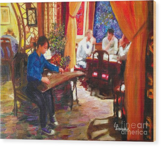 Guzheng Wood Print