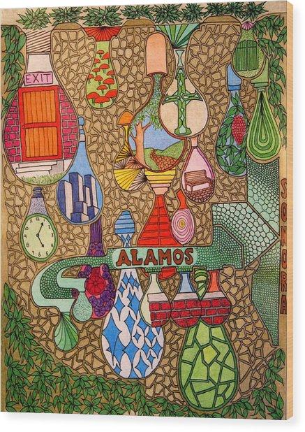 Alamos Lights Wood Print