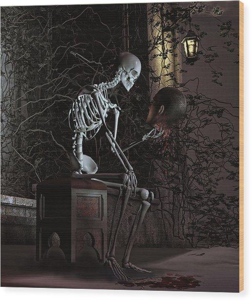 Alas Poor Yorick Wood Print