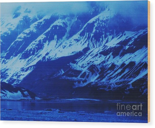 Alaska Blue Wood Print by Marcus Dagan