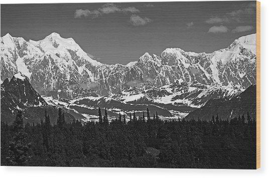 Alaska Range Wood Print