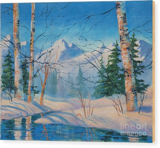 Alaska Winter Wood Print