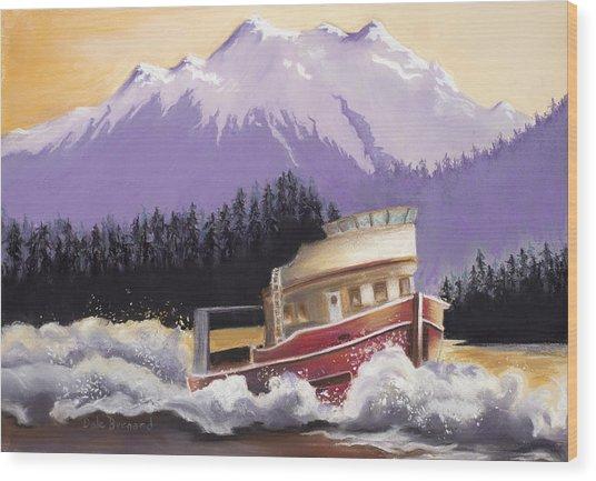 Alaskan Boat Adventure Wood Print