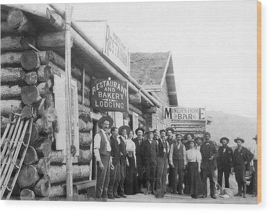 Alaskan Gold Miners Town Wood Print