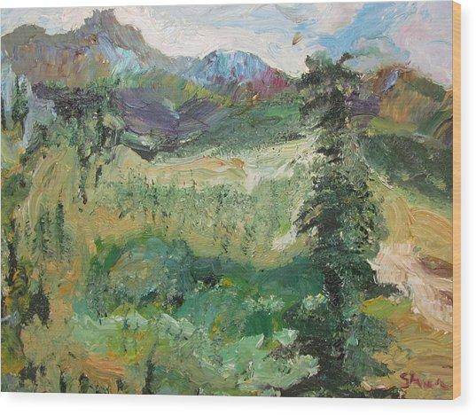 Alaskan Landscape Wood Print