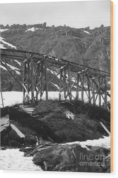 Alaskan Mine Track Wood Print