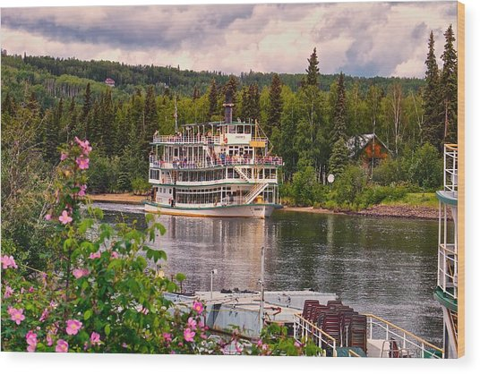 Alaskan Sternwheeler The Riverboat Discovery Wood Print