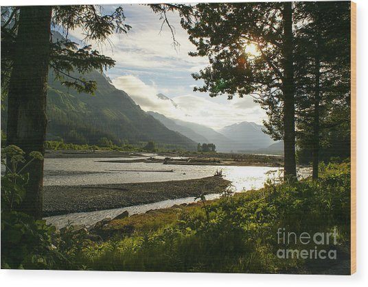 Alaskan Valley Wood Print