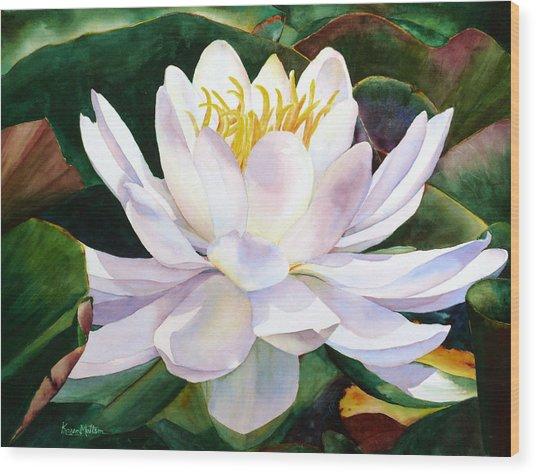 Alba Flora Wood Print