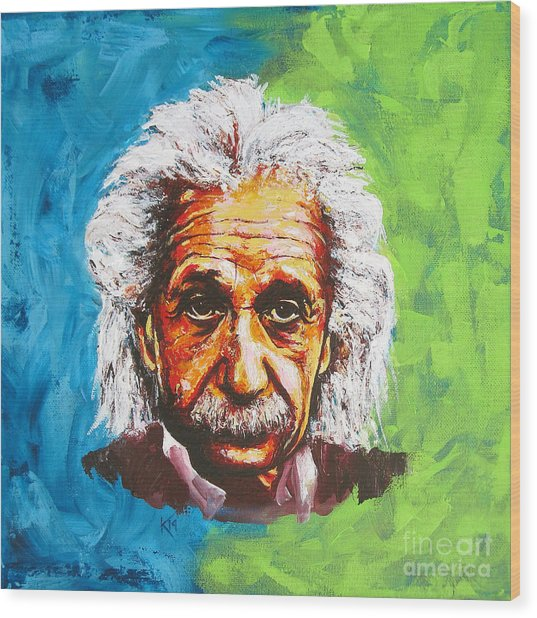 Albert Tribute Wood Print