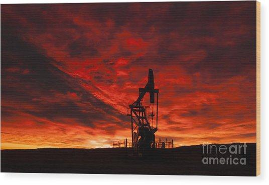 Alberta Sunrise Wood Print