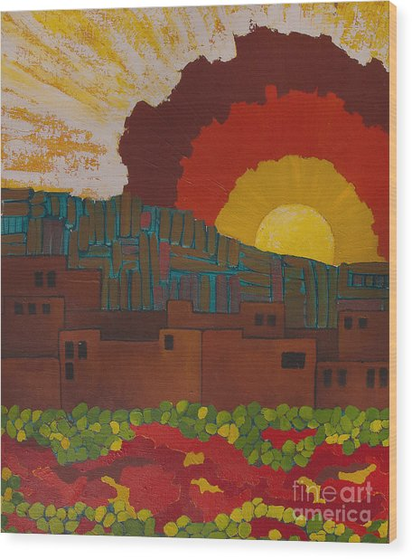 Albuquerque Nm Wood Print