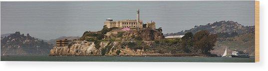 Alcatraz Panorama Wood Print