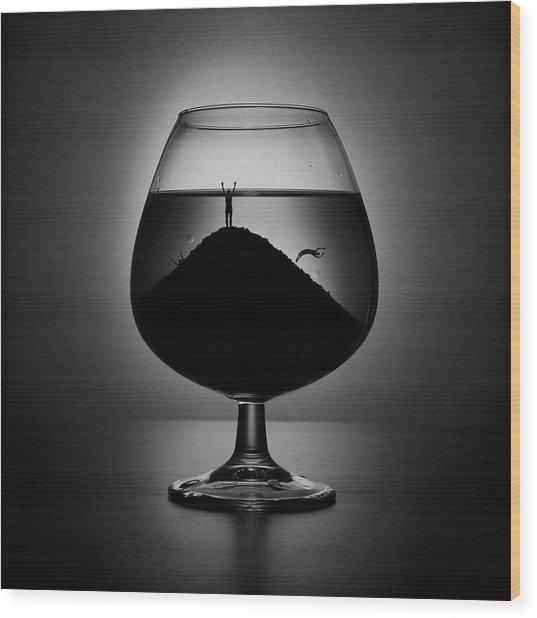 Alcoholism Wood Print