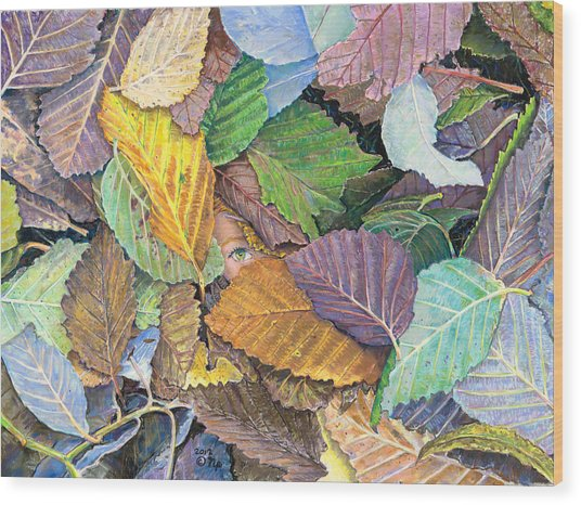 Alder Leaves And Faerie Wood Print