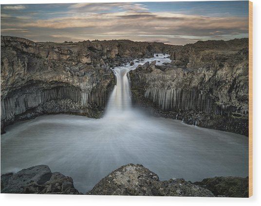Aldeyjarfoss Waterfall North Iceland Wood Print