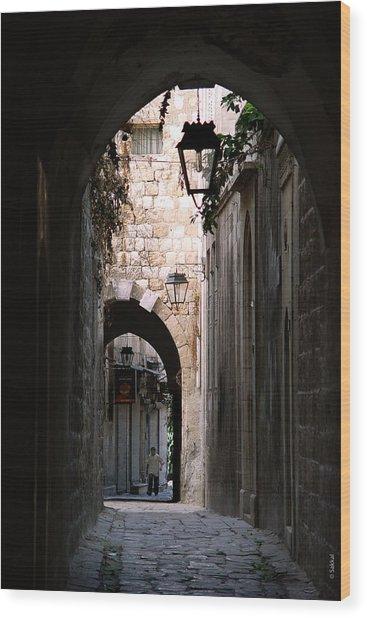 Aleppo Alleyway01 Wood Print