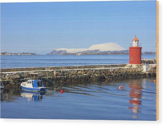 Alesund Lighthouse Wood Print