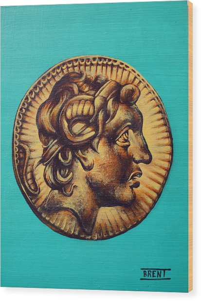 Alexander The Great Wood Print