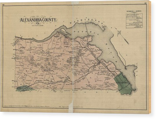 Alexandria Virginia 1878 Wood Print