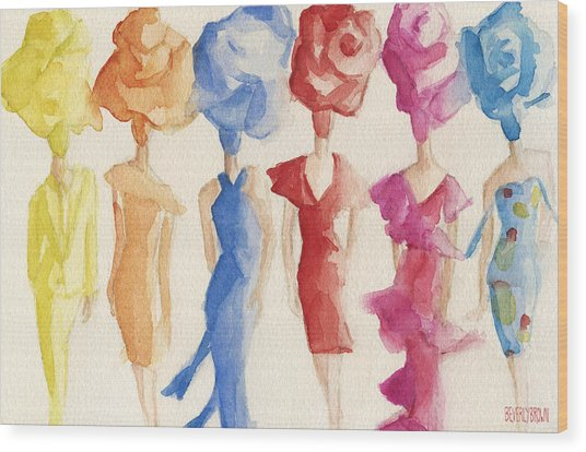 Alexis Mabille Couture - Fashion Illustration Art Print Wood Print