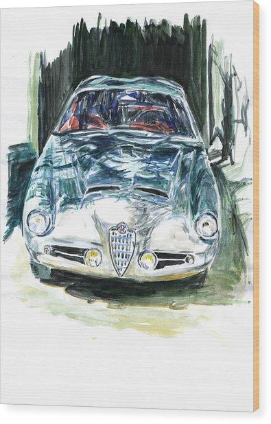 Alfa Romeo Wood Print by Ildus Galimzyanov