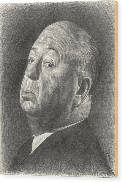 Alfred Hitchcock Wood Print