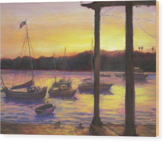 Algarve Sunset Wood Print