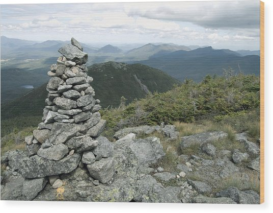 Algonquin Mountain Cairn Wood Print