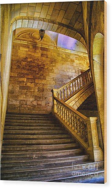 Alhambra Stairway Wood Print