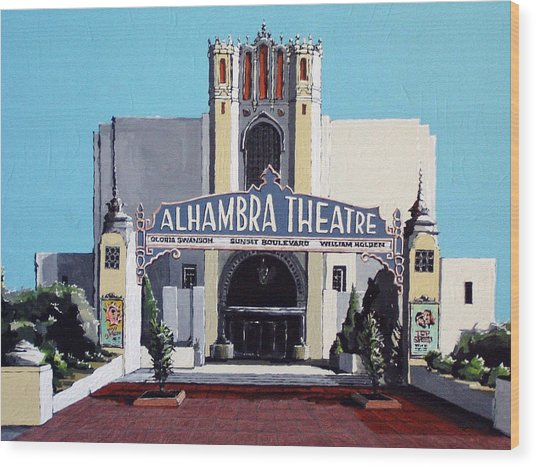 Alhambra Theatre Wood Print by Paul Guyer