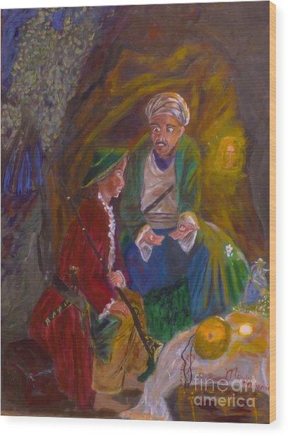 Ali Baba Wood Print