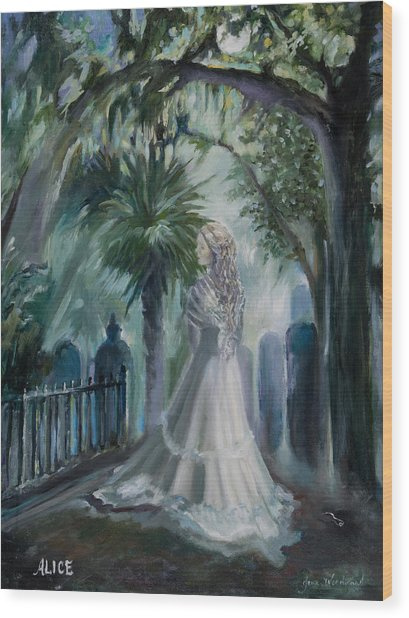 Alice Flagg - The Ghost Of Murrells Inlet Wood Print by Jane Woodward