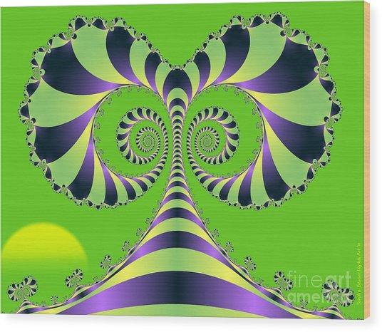 Alices Tree Wood Print by Sandra Bauser Digital Art