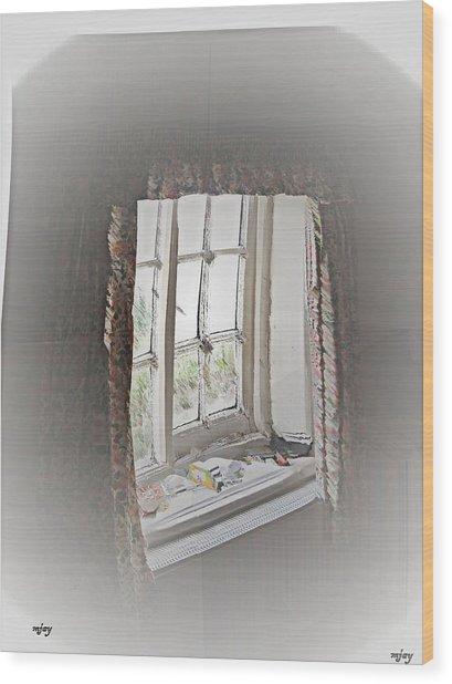 Alice's Window Wood Print by Martin Jay