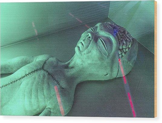 Alien Autopsy Wood Print