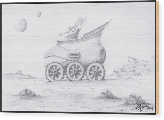 Alien Buggy Wood Print