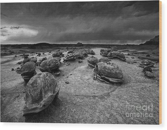 Alien Eggs At The Bisti Badlands Wood Print