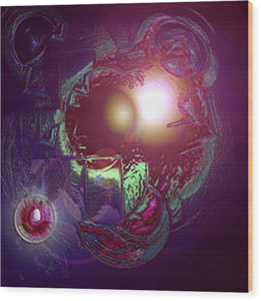 Alien Fetus Wood Print
